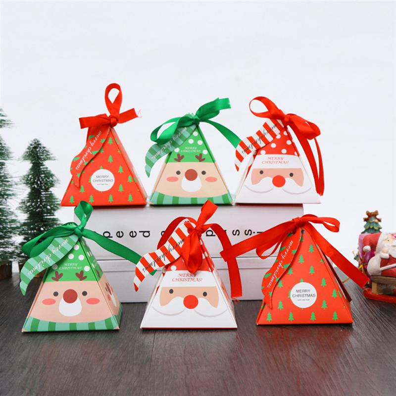 Christmas Candy Gift Boxes  30pcs Christmas Paper Candy Gift Boxes Treats Biscuits