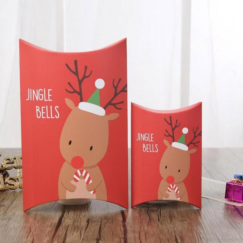 Christmas Candy Gift Boxes  Merry Christmas Pillow Boxes DIY Christmas Gift Box Candy