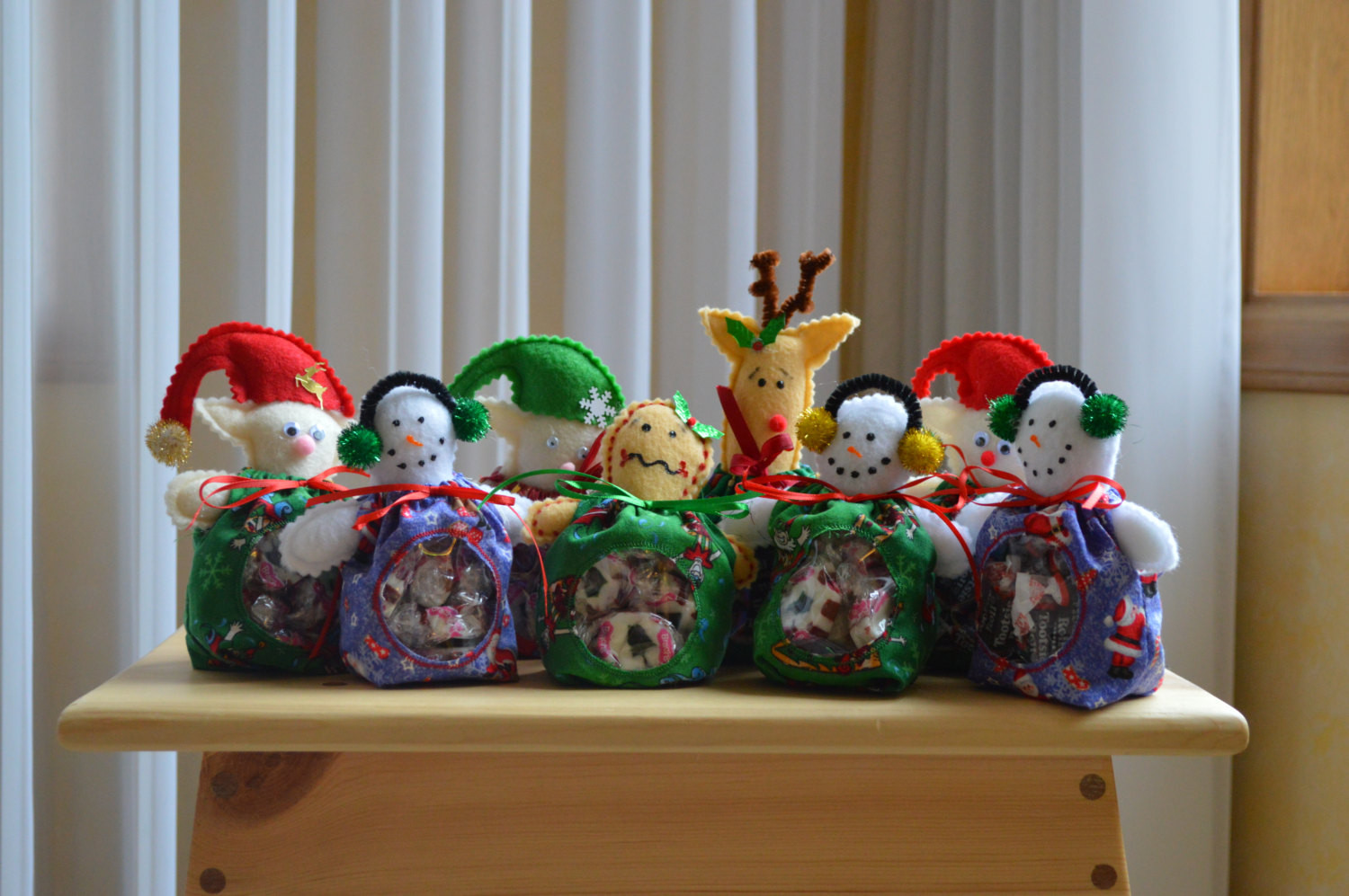 Christmas Candy Holders  Christmas Character Candy Holders by BarrelToRail on Etsy