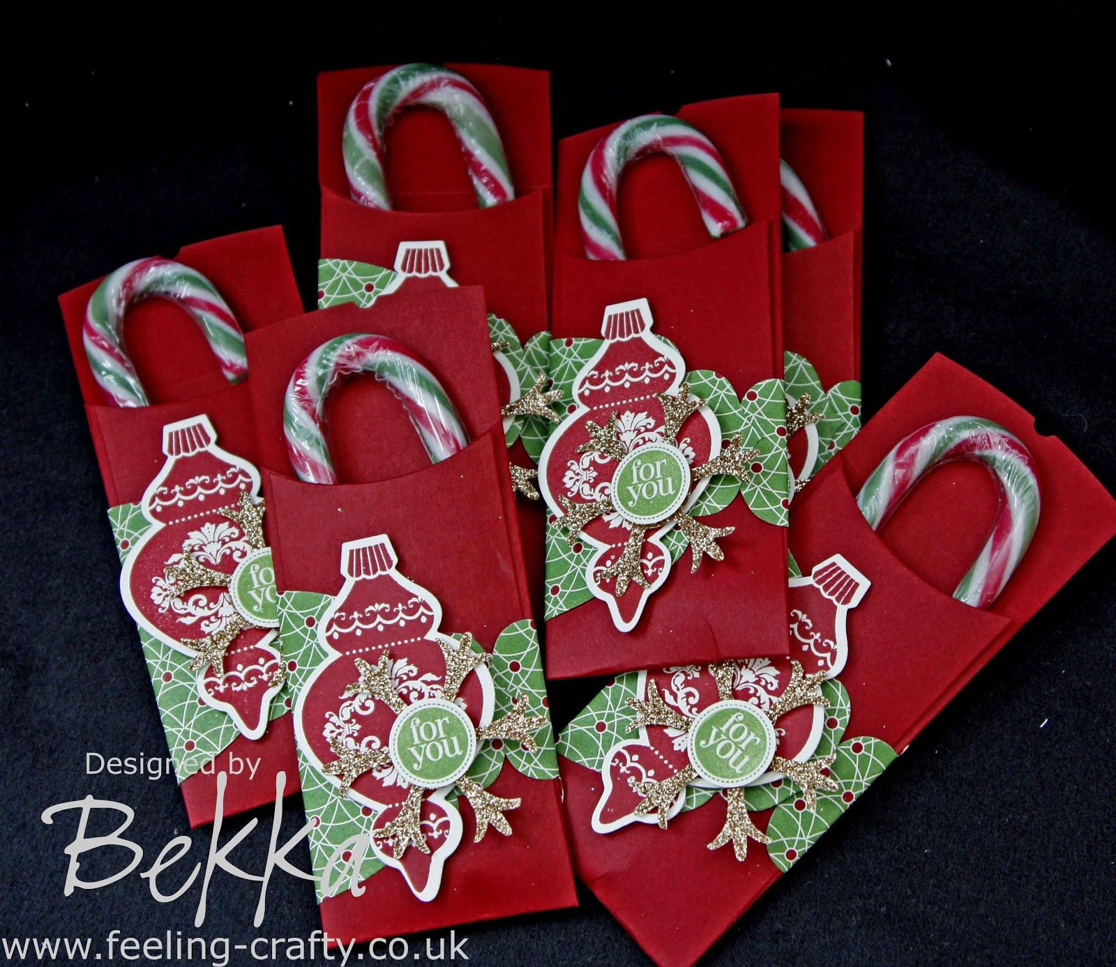 Christmas Candy Holders  Cute Candy Cane Holder by Stampin Up Demonstrator Bekka