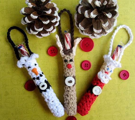 Christmas Candy Holders  Christmas Candy Cane Holder Ornament Crochet Pattern Chr0026