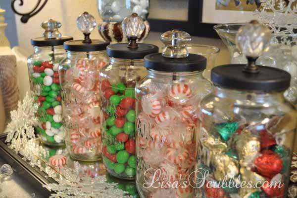 Christmas Candy Jars  DIY Christmas Candy Jars