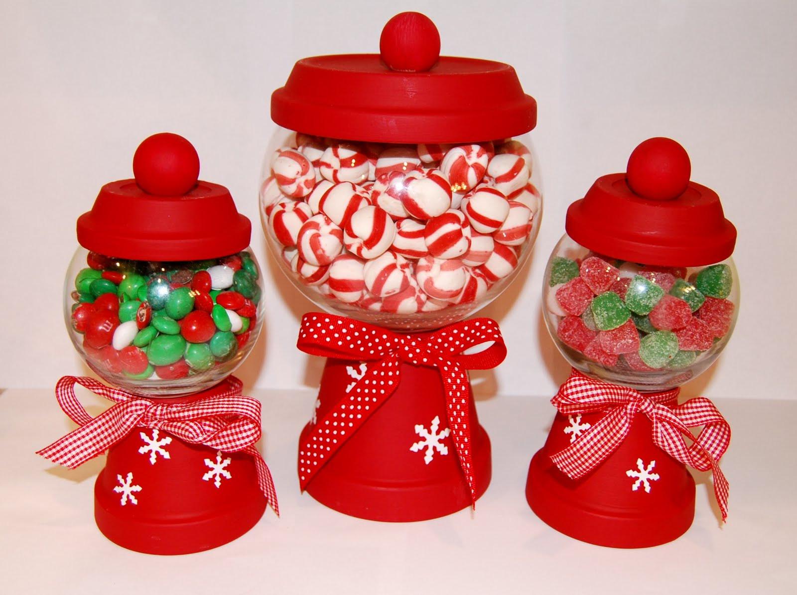 Christmas Candy Jars  See Jane Blog Christmas Craft