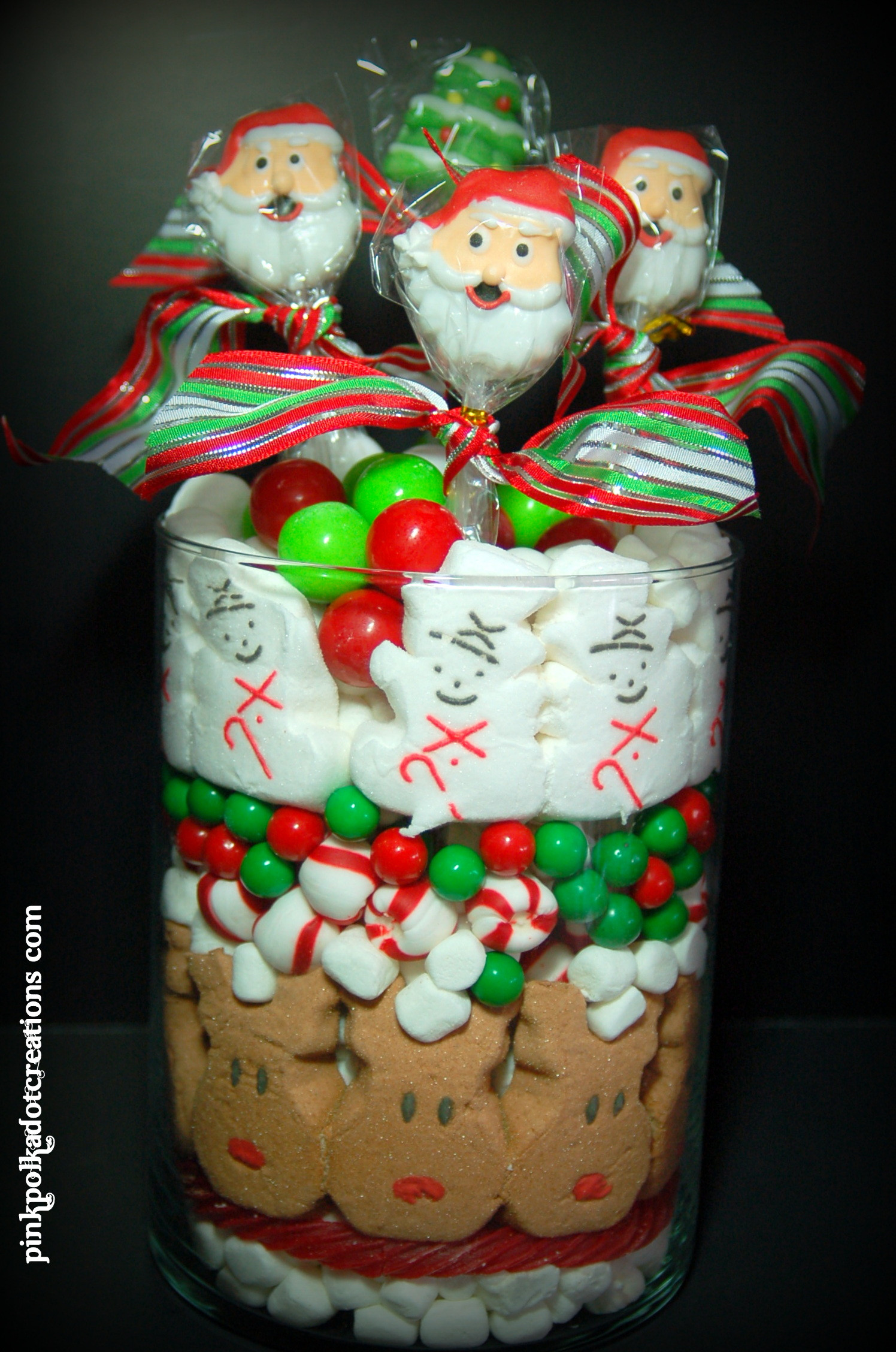 Christmas Candy Jars  Christmas Candy Jar Pink Polka Dot Creations