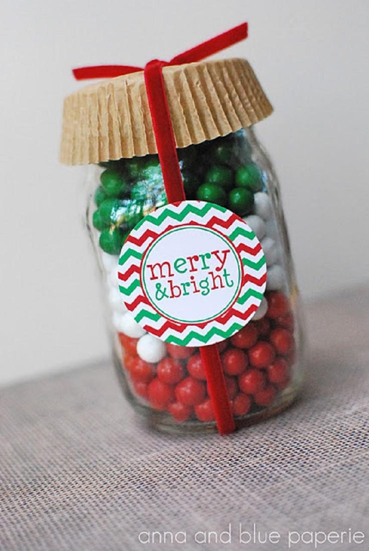 Christmas Candy Jars  Top 10 Mason Jars Christmas Decorations For Your Cookies