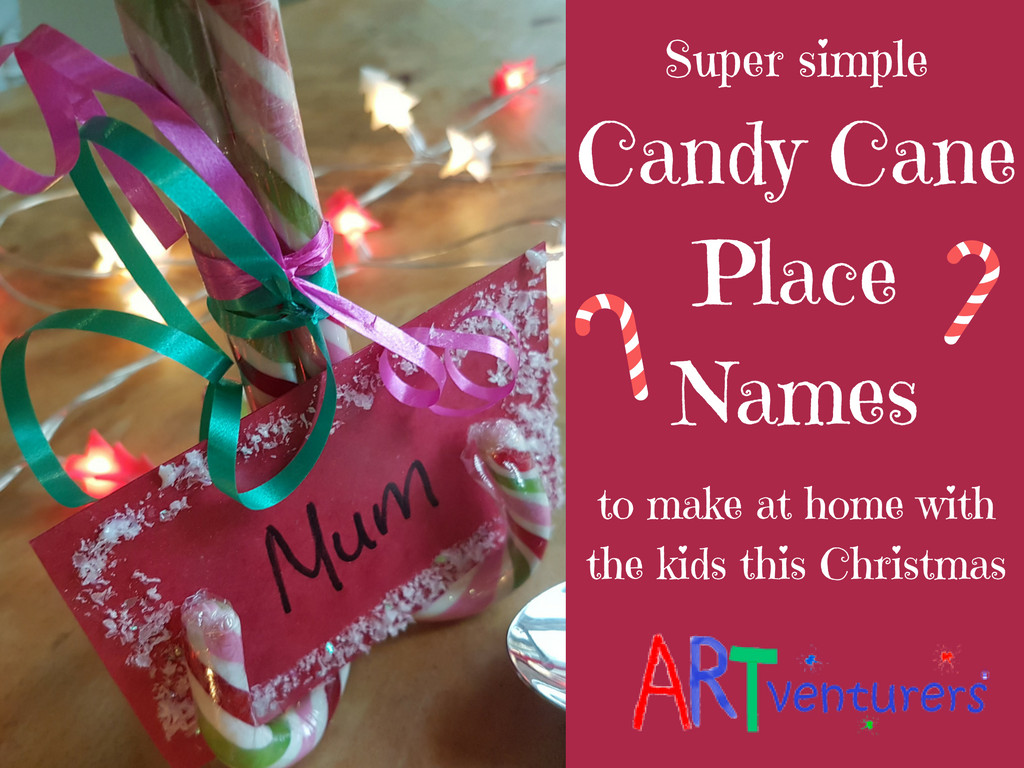 Christmas Candy Names  Christmas Candy Cane Place Name Settings