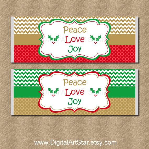 Christmas Candy Names  Christmas Candy Labels Holiday Candy Bar Wrappers