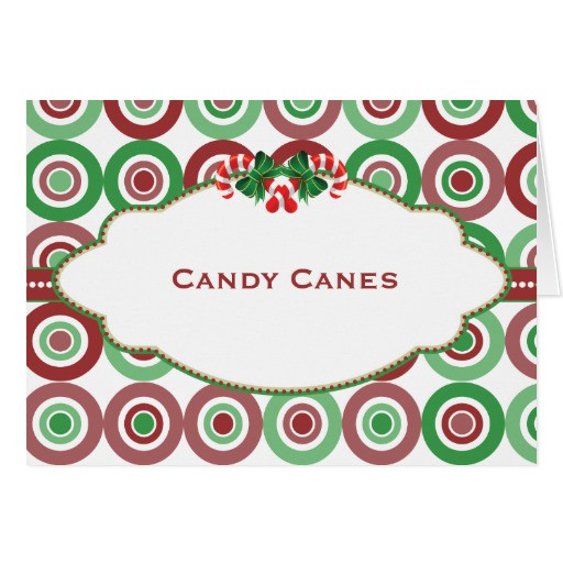 Christmas Candy Names  Christmas Circle Candy Buffet Candy Name card