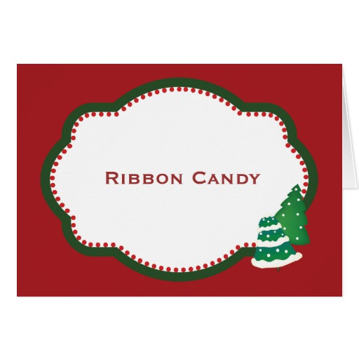 Christmas Candy Names  Christmas Tree Candy Buffet Candy Name card