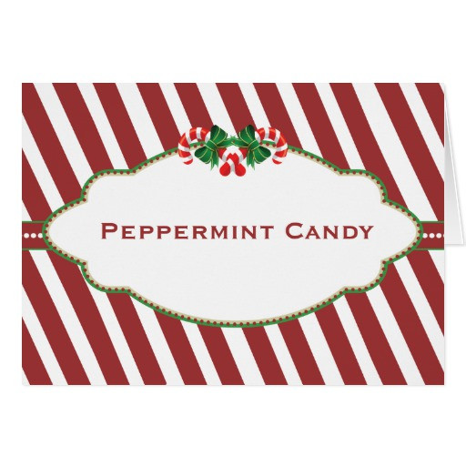 Christmas Candy Names  Christmas Candy Buffet Candy Name card