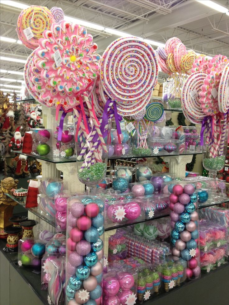 Christmas Candy Ornaments  Candy land Christmas items to purchase Bebe Love