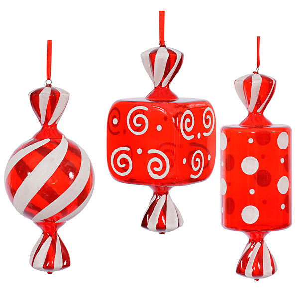 Christmas Candy Ornaments  Assorted Christmas Candy Ornaments 15 Inch 3