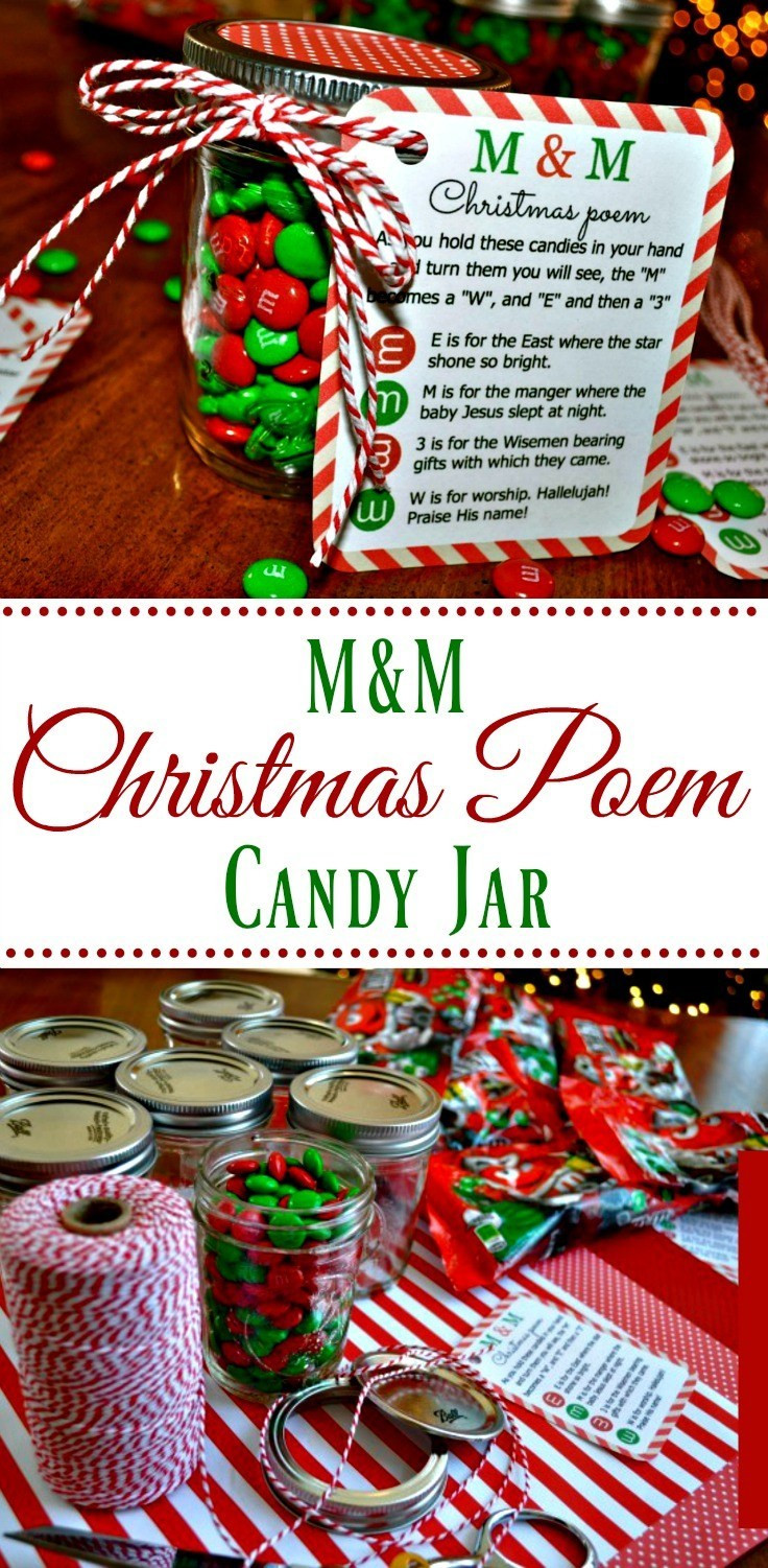 Christmas Candy Poems  M&M Christmas Poem Candy Jar Tutorial Simple Sojourns