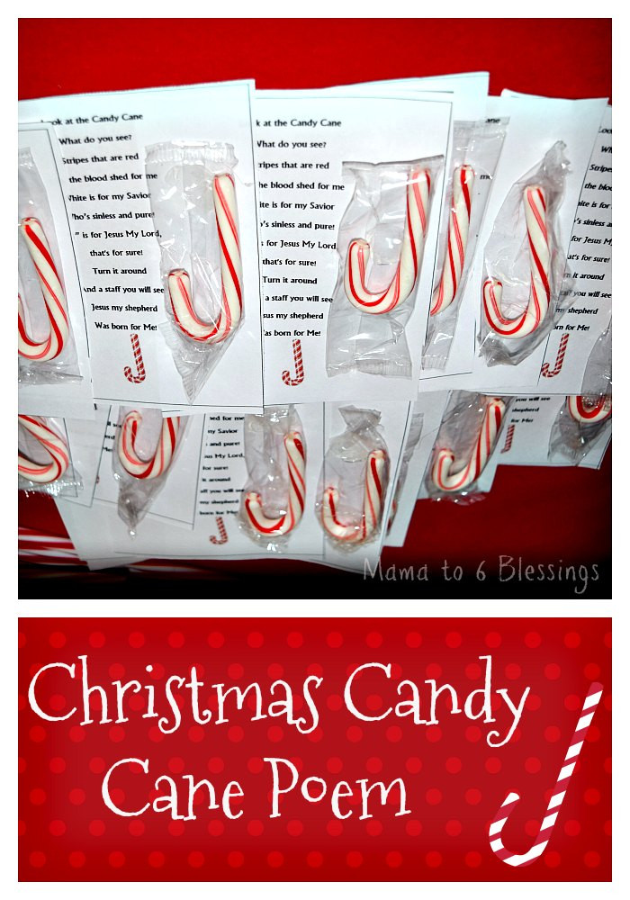 Christmas Candy Poems  Christmas Candy Cane Poem