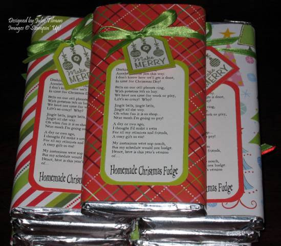 Christmas Candy Poems  Christmas Fudge by Shadowcatcher at Splitcoaststampers