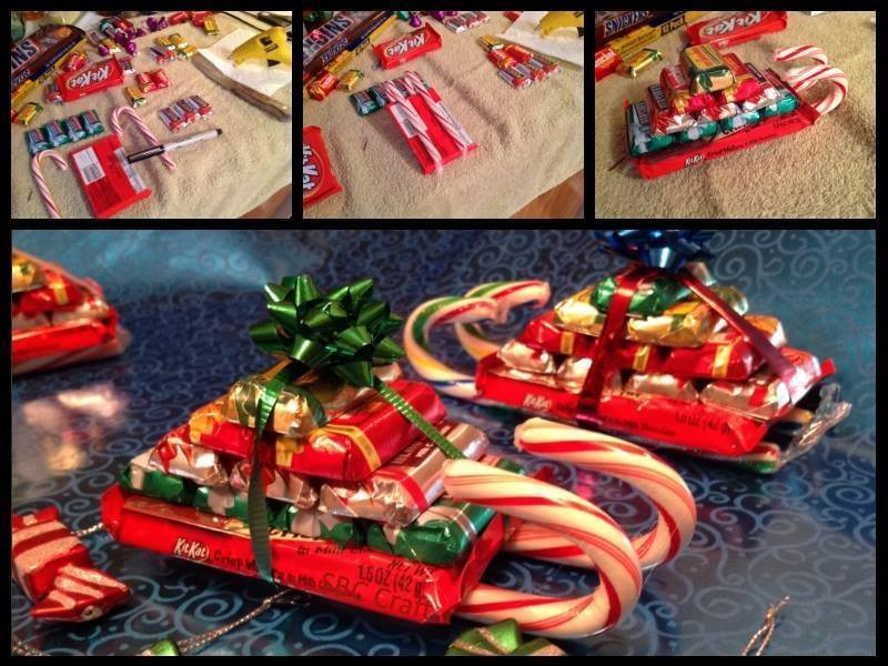 Christmas Candy Sleds  Candy Cane Sleighs