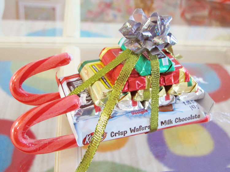 Christmas Candy Sleds  inspire co candy sleigh