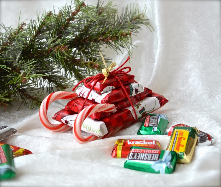 Christmas Candy Sleds  Much Ado About Nothing Candy Sleds For The Holidays