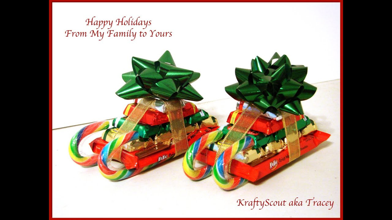 Christmas Candy Sleds  CHRISTMAS CANDY CANE SLEIGH HOW TO You ve Been Elfed