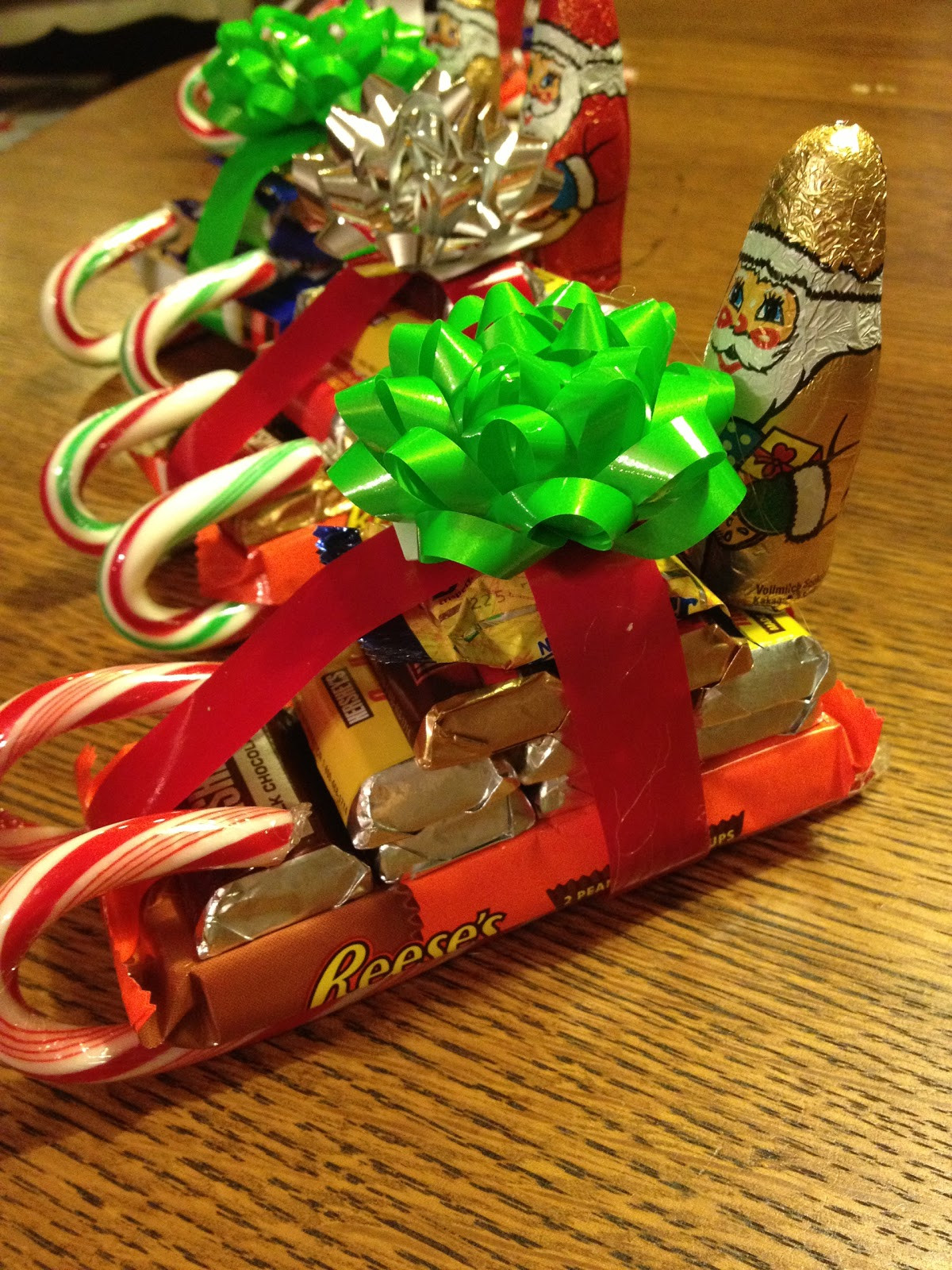 Christmas Candy Sleds  French Hen Farm gentlemen art your engines