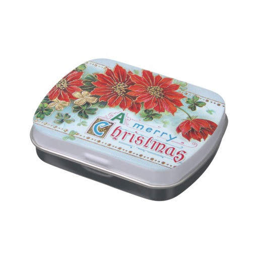 Christmas Candy Tins  Vintage Christmas Jelly Bean Candy Tin