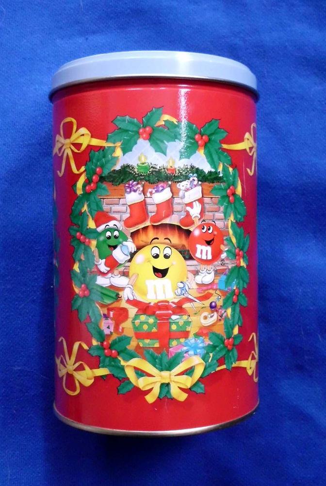 Christmas Candy Tins  M&M s 1993 Christmas candy tin