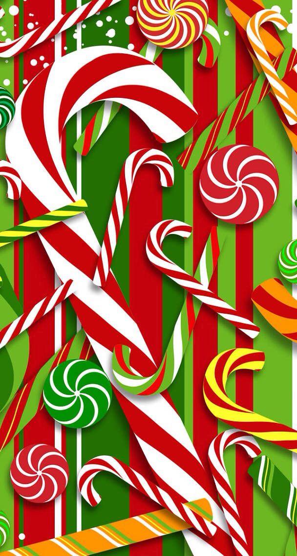 Christmas Candy Wallpaper  Candy Cane Wallpaper WallpaperSafari