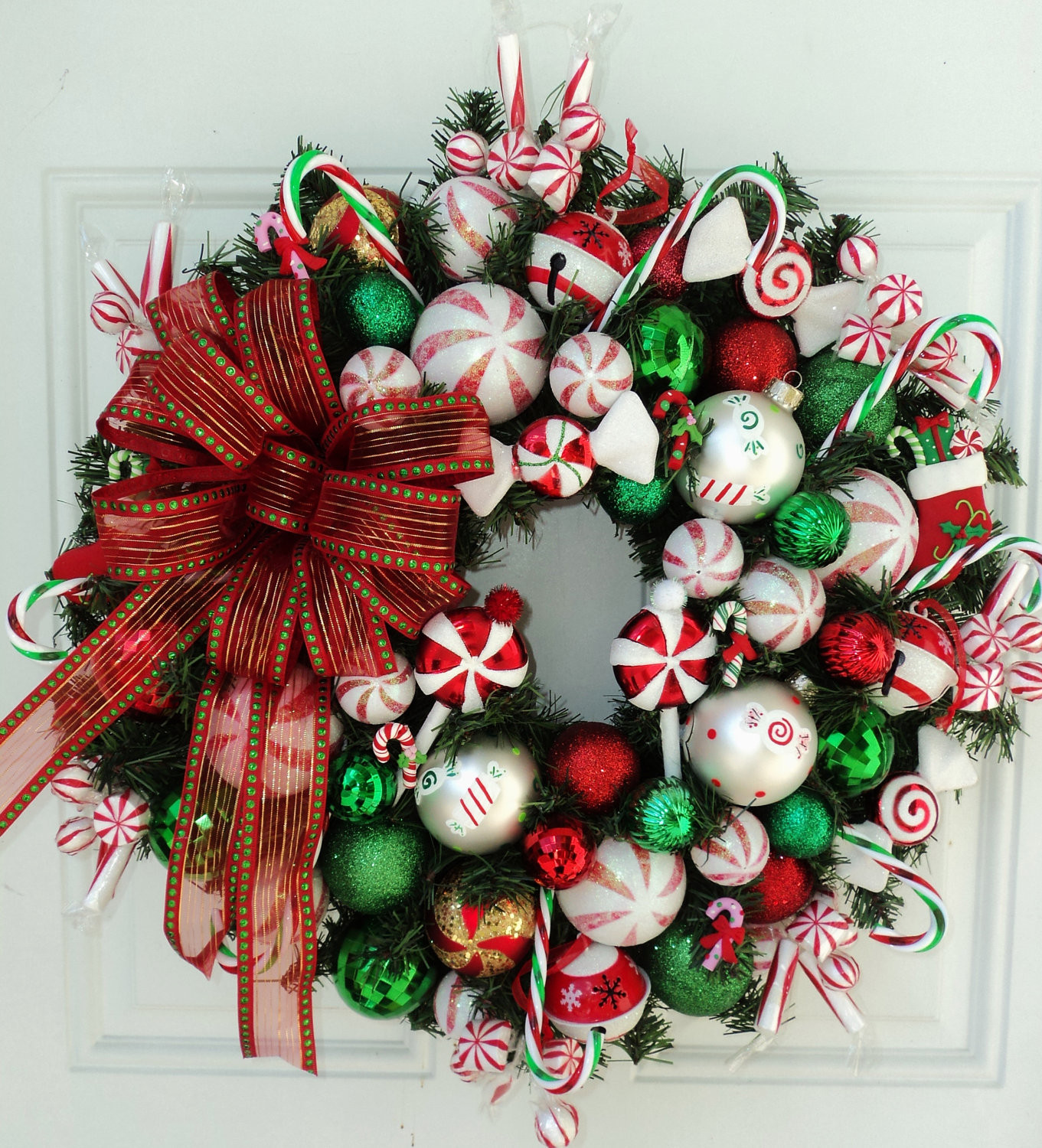 Christmas Candy Wreath  Canada Floral Delivery Blog November 2012