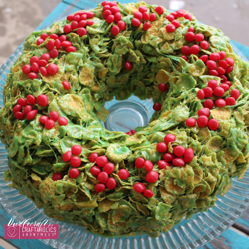 Christmas Candy Wreath  Craftaholics Anonymous