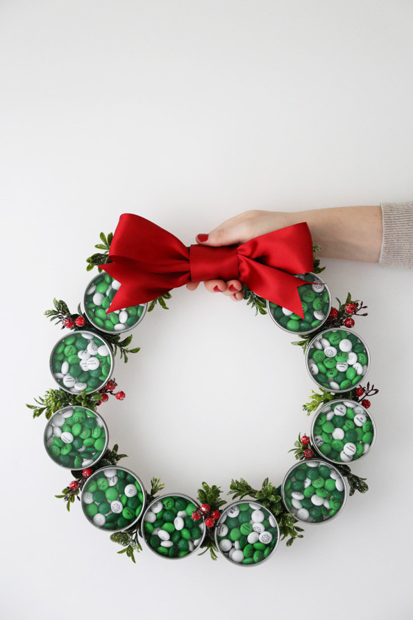 Christmas Candy Wreath  DIY Holiday Candy Wreath Evite