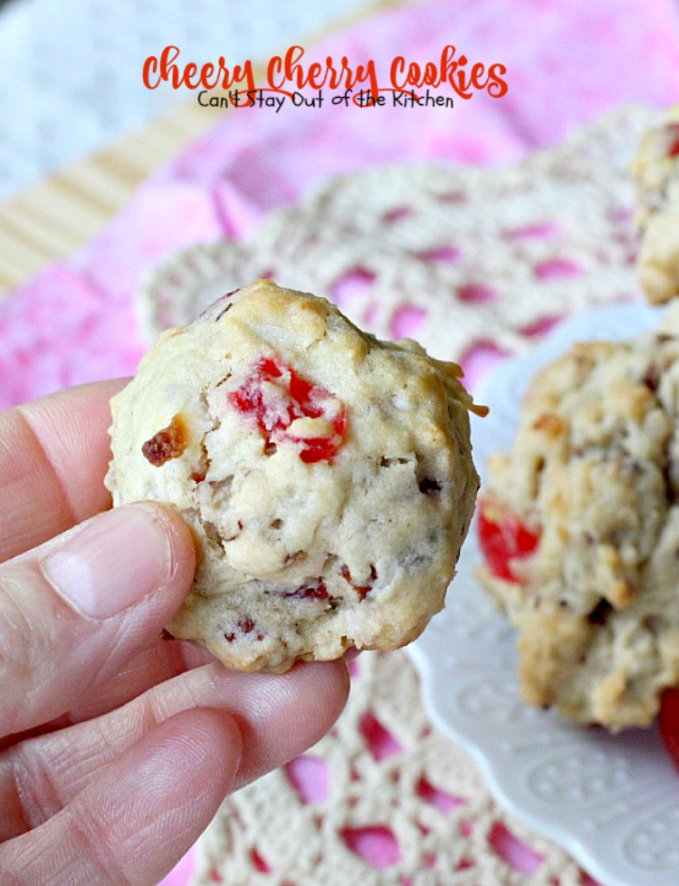 Christmas Cherries Cookies  Cheery Cherry Cookies Can t Stay Out of the Kitchen