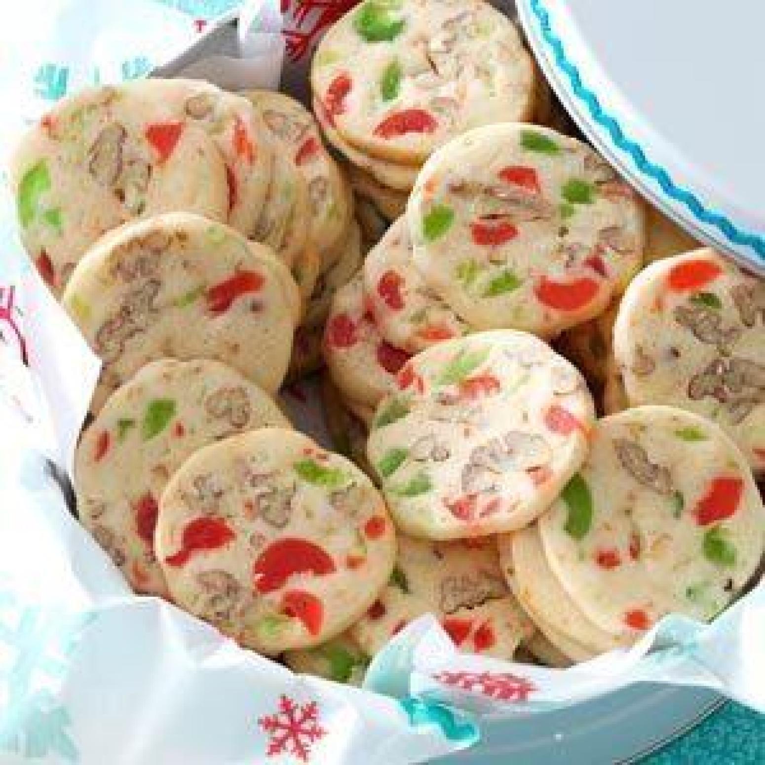 Christmas Cherries Cookies  Cherry Christmas Slices Recipe