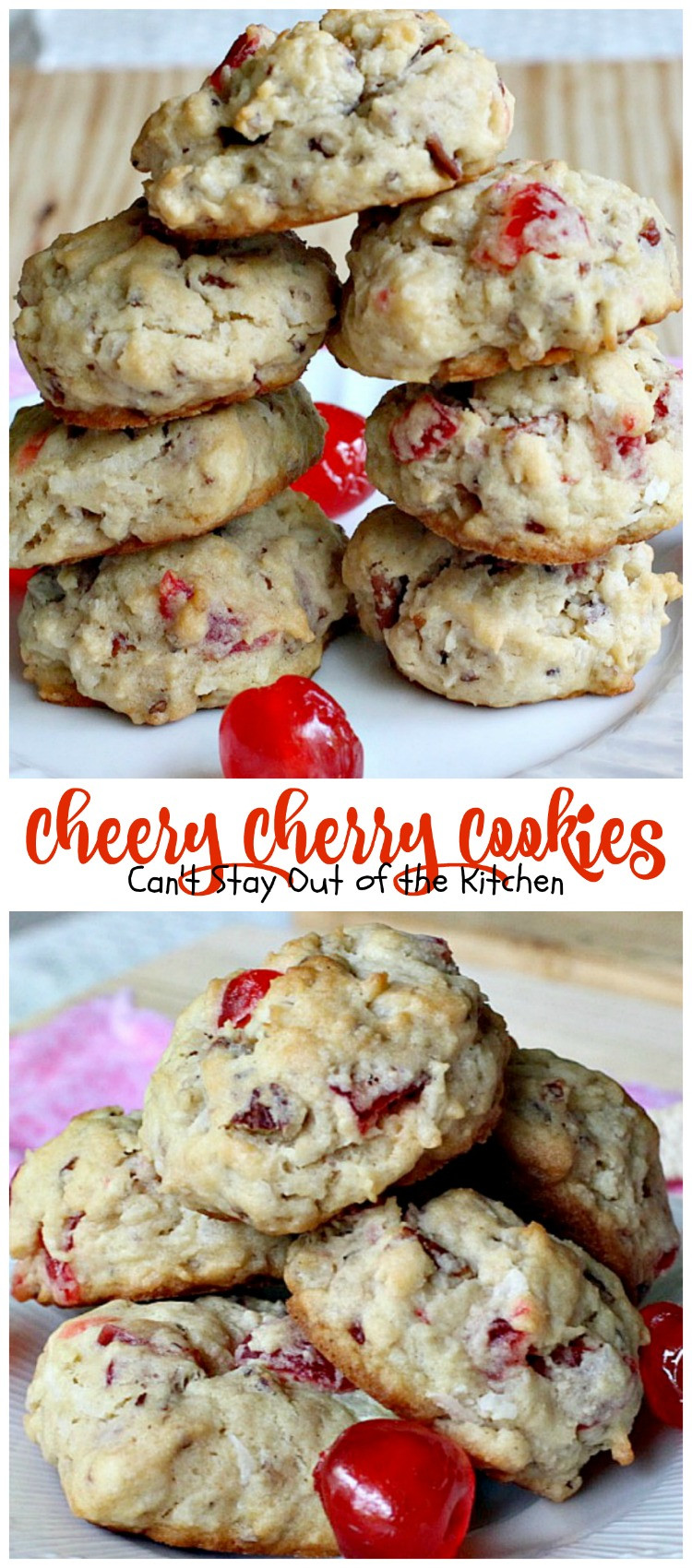 Christmas Cherries Cookies  White Chocolate Cherry Coconut Cookies Can t Stay Out of