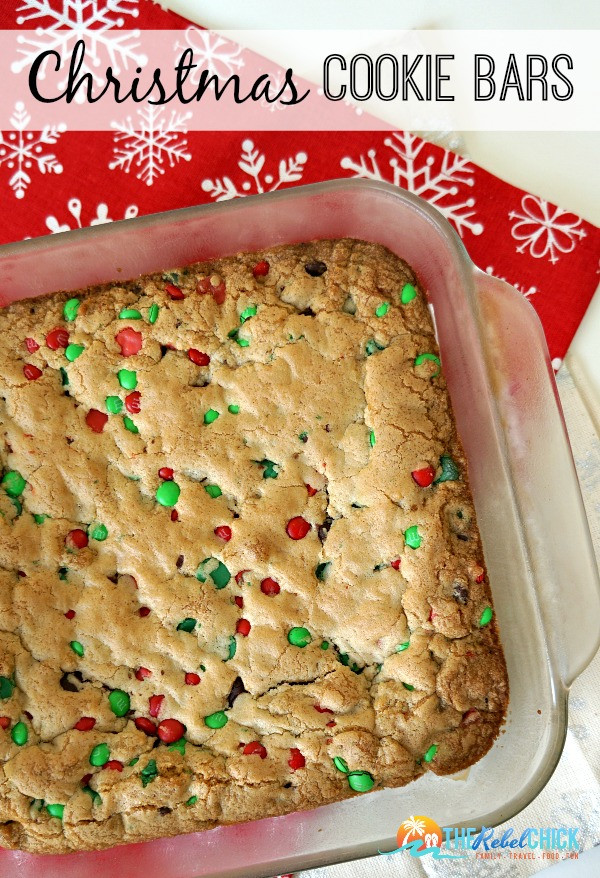 Christmas Cookies Bar  Christmas Cookies Bars Recipe The Rebel Chick