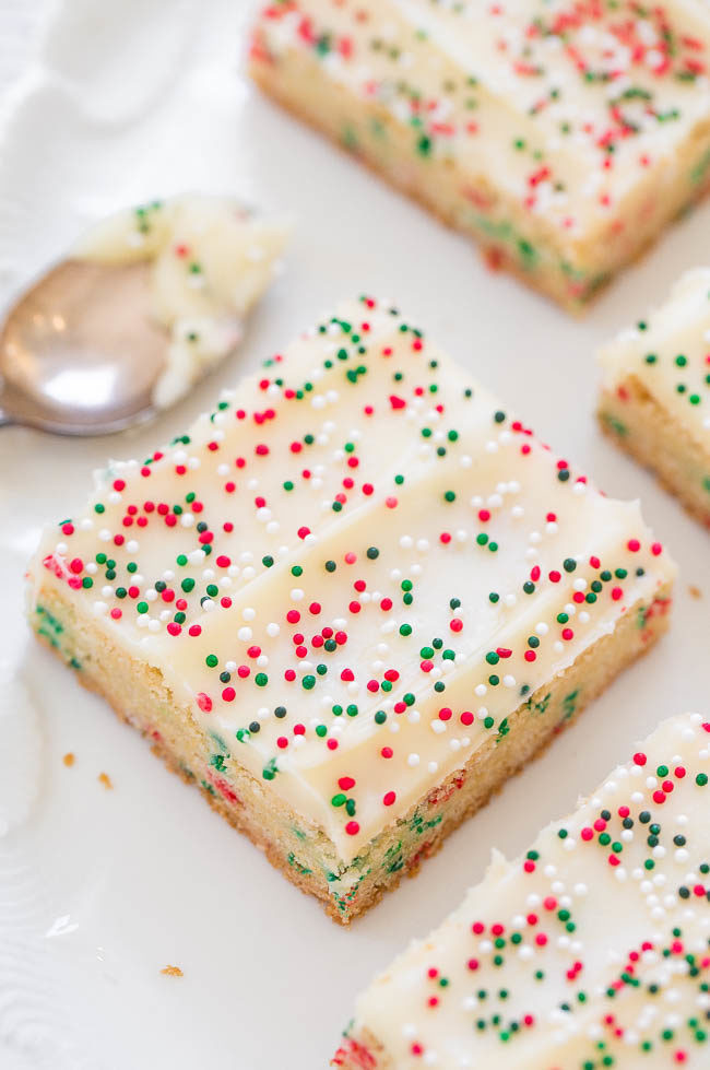 Christmas Cookies Bar  Holiday Sugar Cookie Bars with Cream Cheese Frosting