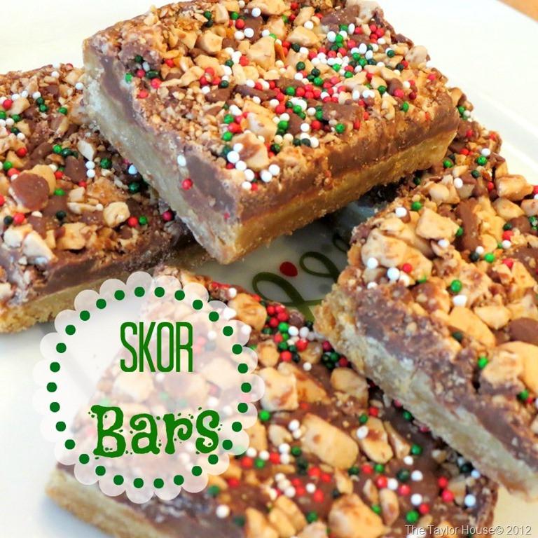 Christmas Cookies Bar  Christmas Skor Bars