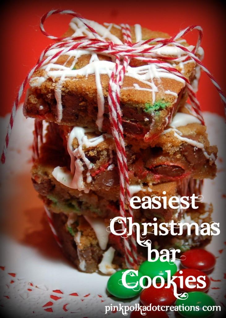 Christmas Cookies Bar  M & M Christmas Bar Cookies Pink Polka Dot Creations