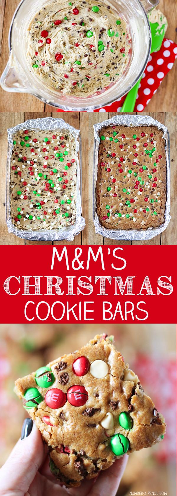 Christmas Cookies Bar  M&M S Christmas Cookie Bars No 2 Pencil