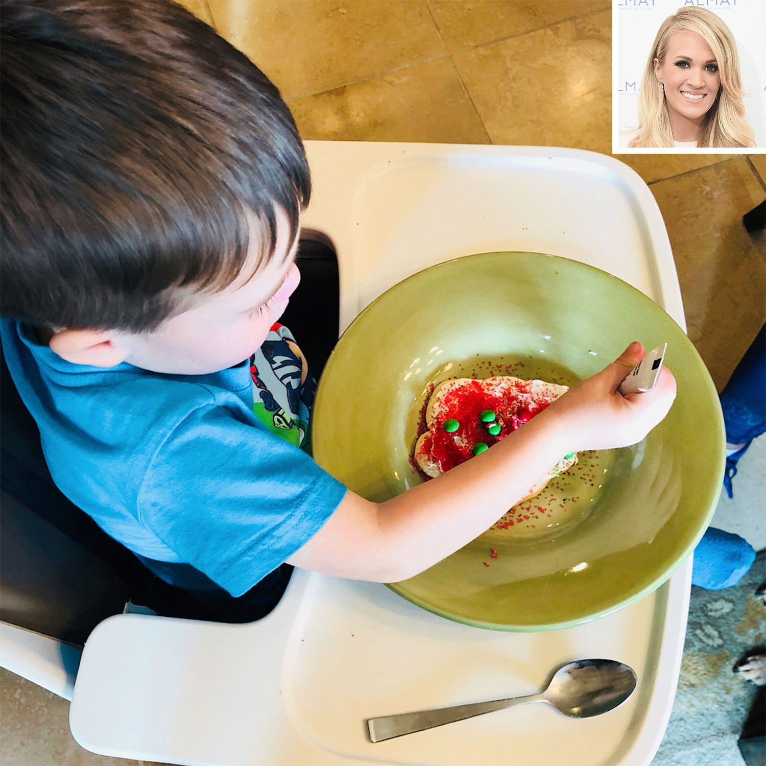 Christmas Cookies Country Song  Carrie Underwood Makes Christmas Cookies with Son Isaiah