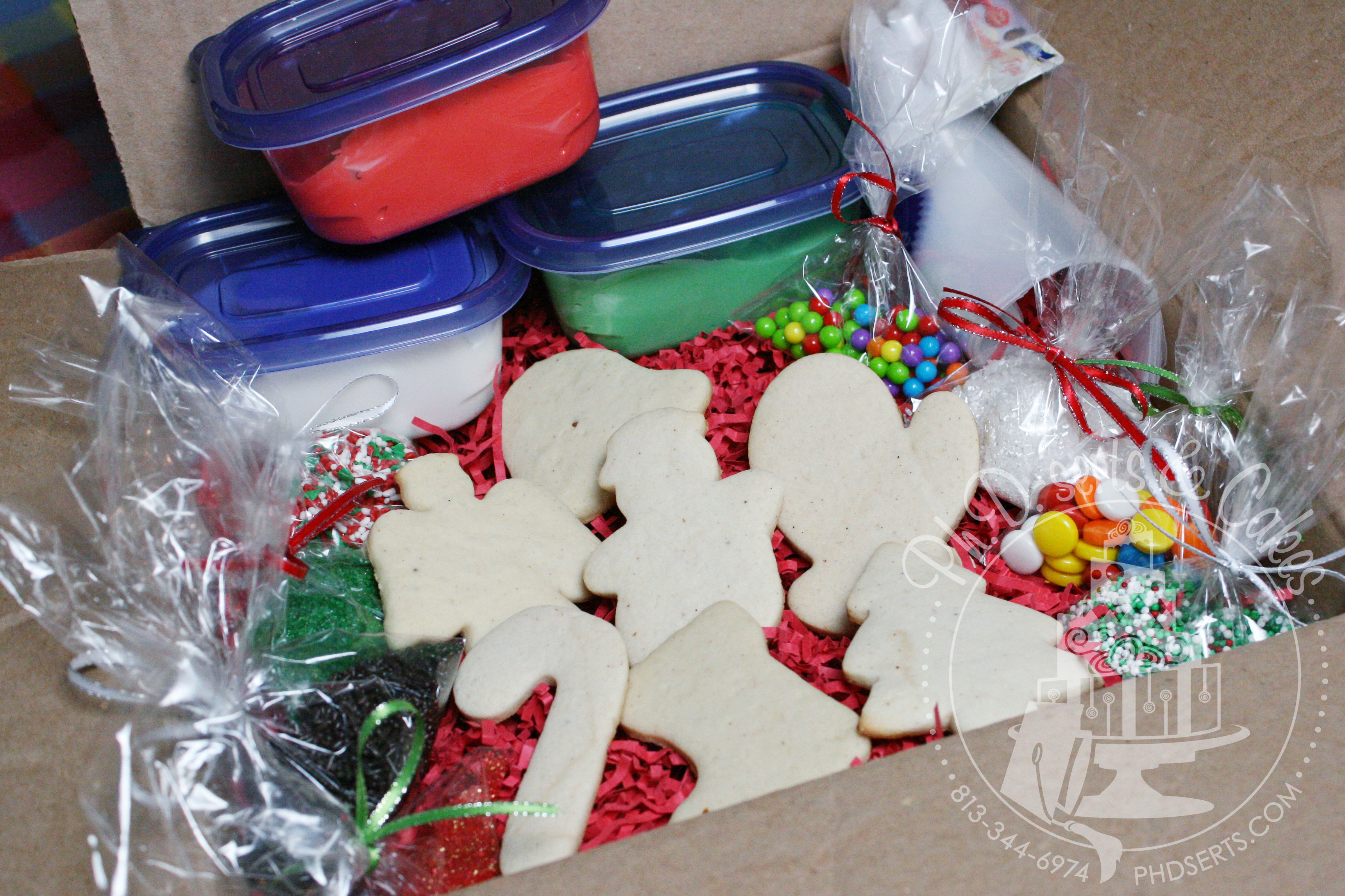 Christmas Cookies Decorating Kit  Other Sweets Ph D serts Tampa Custom Cookies