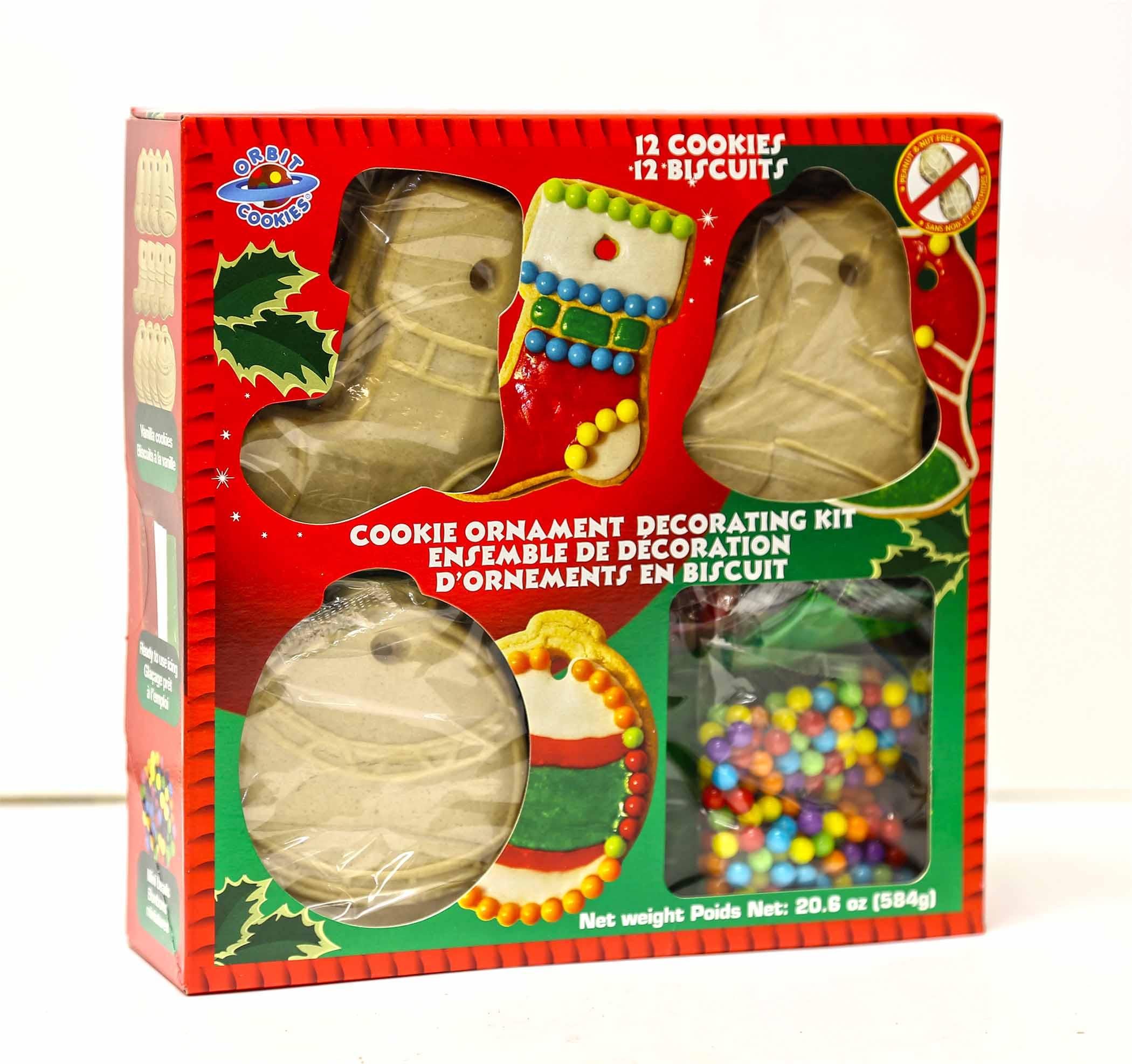 Christmas Cookies Decorating Kit  Nafta Foods Holiday Ornament Decorating Kit Vanilla