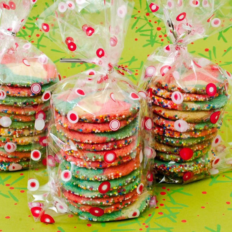 Christmas Cookies In A Bag  Peppermint Lime Kaleidoscope Cookies