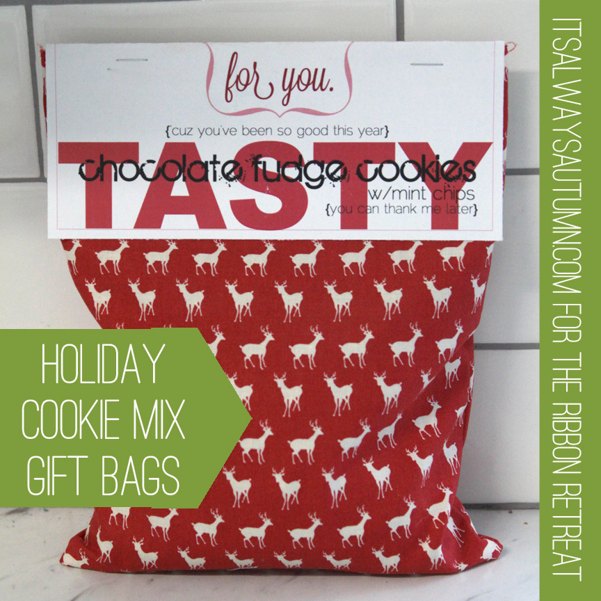 Christmas Cookies In A Bag  holiday cookie mix t bags It s Always Autumn