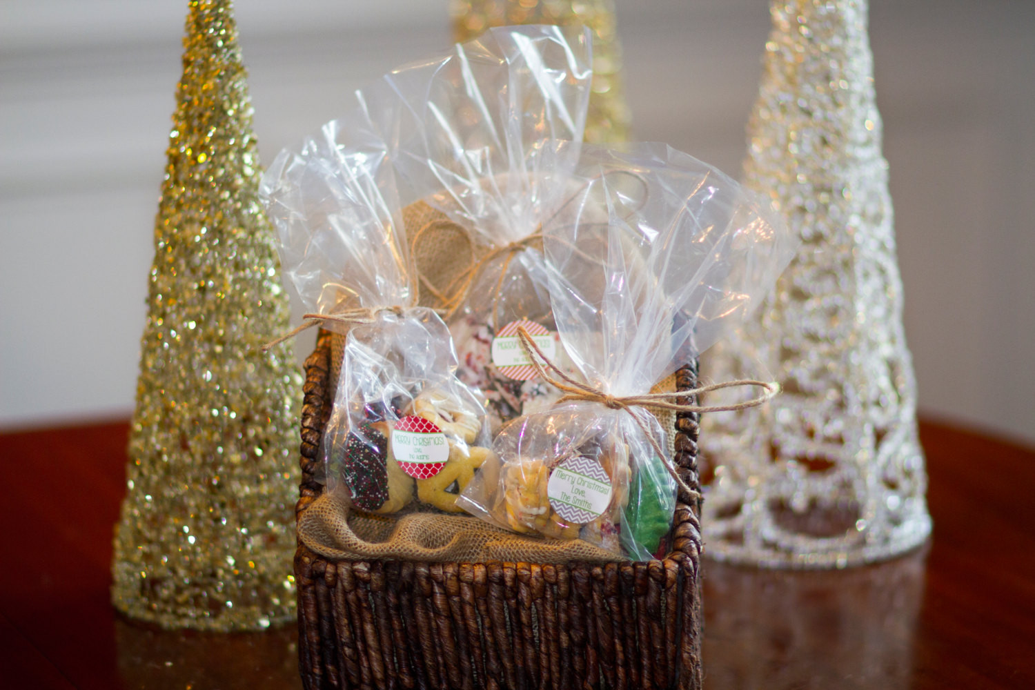 Christmas Cookies In A Bag  20 Custom Christmas Cookie Gift bags INCLUDES Bag Twine