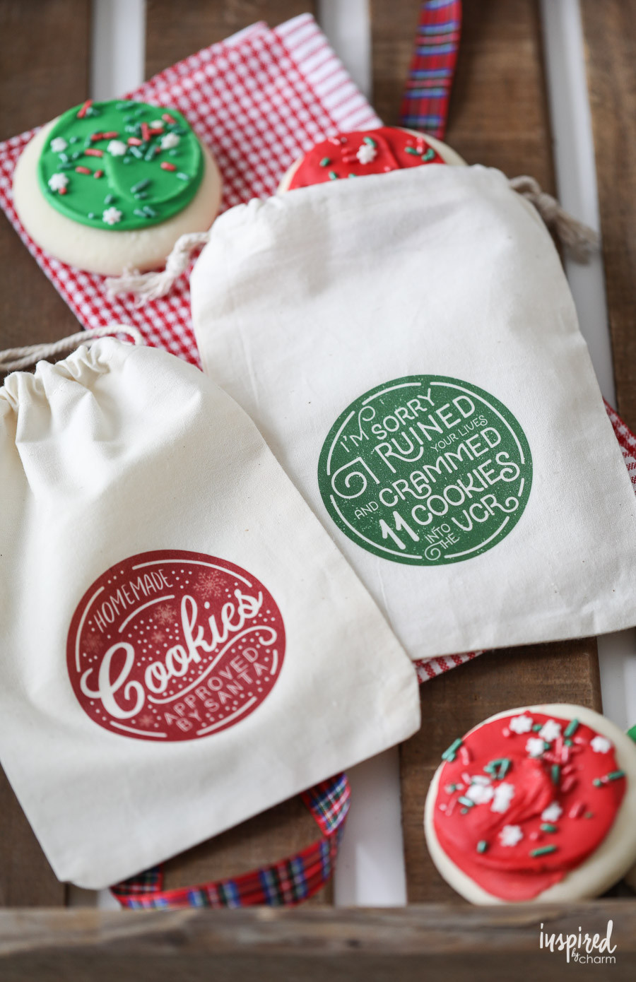 Christmas Cookies In A Bag  DIY Christmas Cookie Bags with Printable Download