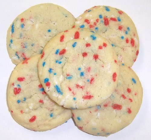 Christmas Cookies In Blue Tin  Scott's Cakes Red White & Blue Jimmie Sugar Cookies in a