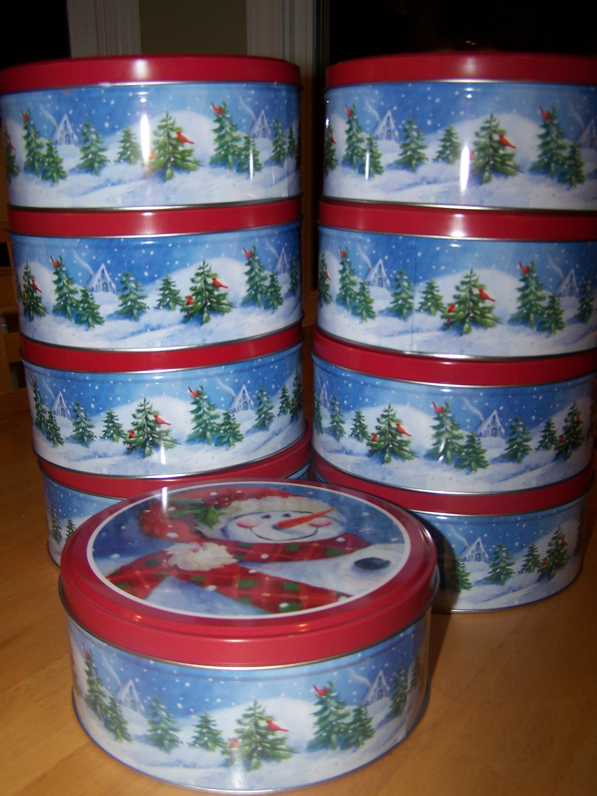 Christmas Cookies In Blue Tin  Christmas Cookie Tins Walmart
