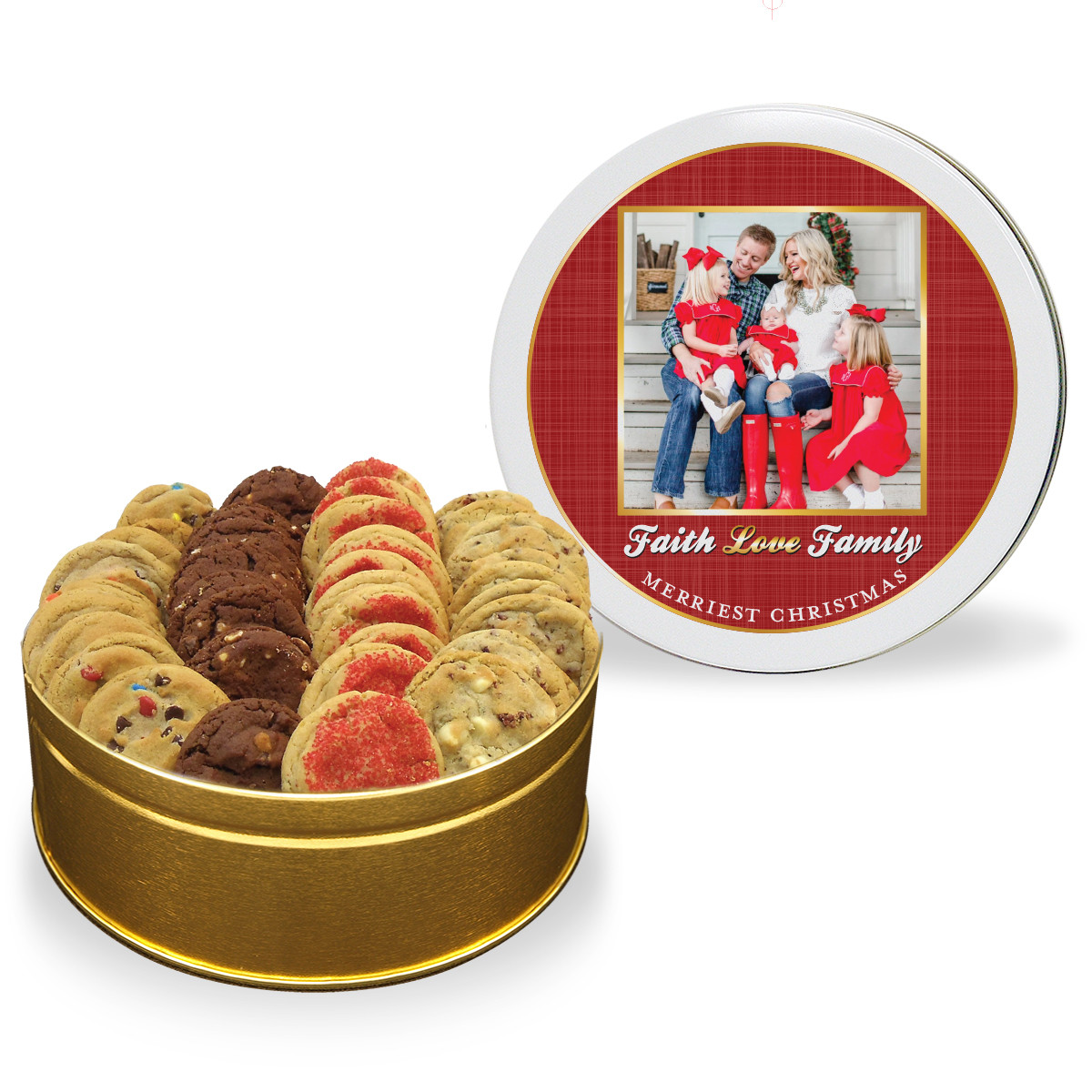 Christmas Cookies In Blue Tin  Christmas Cookie Tin 4 Flavors Fresh Beginnings