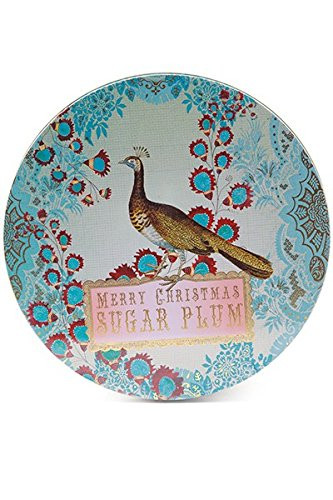 Christmas Cookies In Blue Tin  Papaya Art Merry Christmas Sugar Plum Cookie Tin Set 3