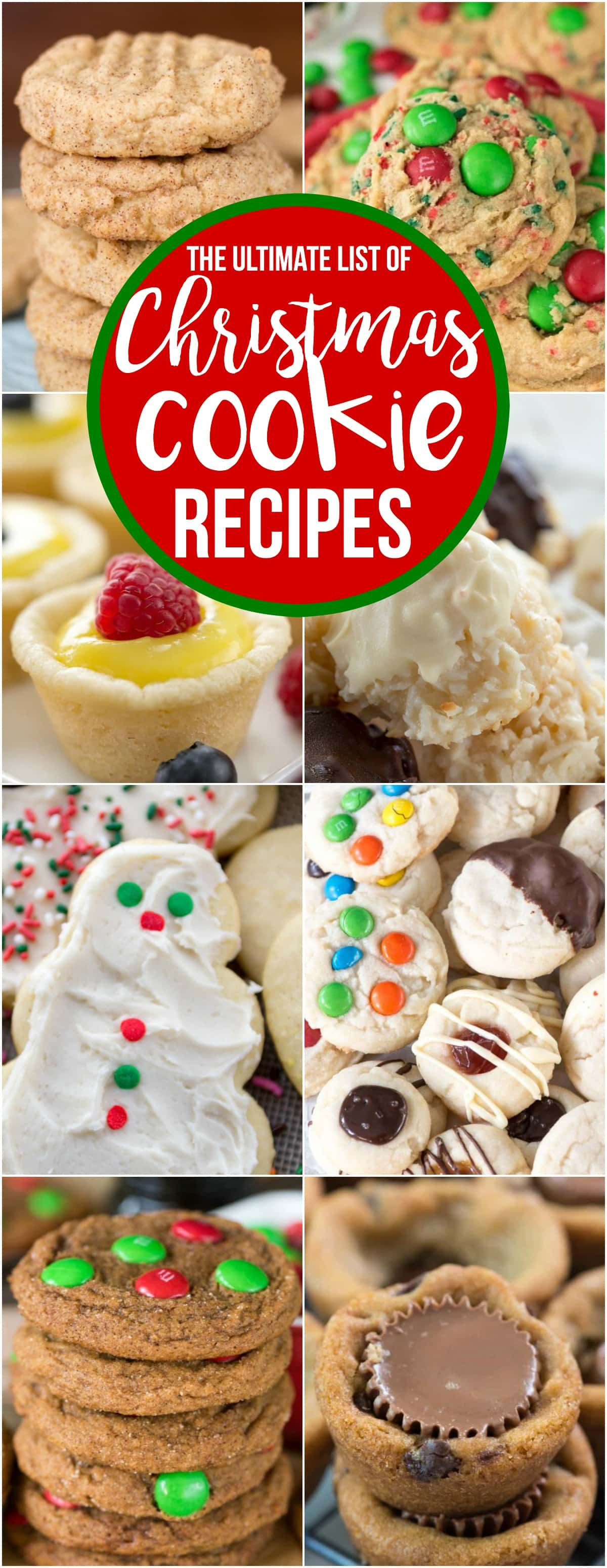 Christmas Cookies List  The Ultimate List of Christmas Cookies Crazy for Crust
